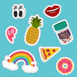 Stickers and handwritten notes collection. Fashion patch badges Royalty Free Stock Photography