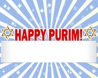 Stickers Happy Purim with Star of David. Royalty Free Stock Photography