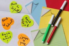 Stickers - herinnering, levering voor schoolkinderen Stock Afbeeldingen