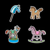 Stickers with horses Royalty Free Stock Images