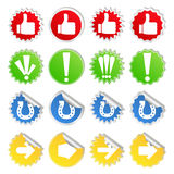 Stickers with icons Royalty Free Stock Photo
