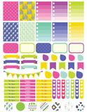 Stickers and label tags colorful set. Stock Photo