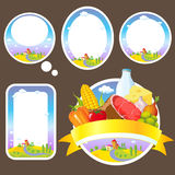 Stickers and labels Royalty Free Stock Photos
