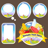 Stickers and labels Royalty Free Stock Photography