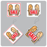 Stickers and labels for sale with dogs. Stock Images
