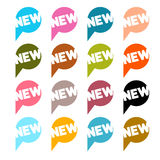 Stickers - Labels Set with New Title Royalty Free Stock Image