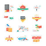 Stickers labels tags set Royalty Free Stock Images