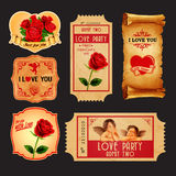 Stickers love. For valentine's day Royalty Free Stock Image