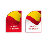 Stickers Made in Spain. Vector. Stock Image