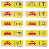 Auto service stickers Stock Image