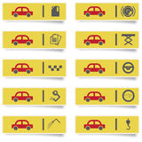 Auto service stickers Stock Photo