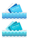 Stickers in marine style Stock Photography