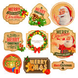 Stickers merry christmas Royalty Free Stock Photos