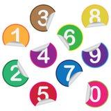 Stickers met aantallen. Royalty-vrije Stock Foto's