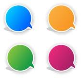 stickers met beeldverhaal Stock Fotografie