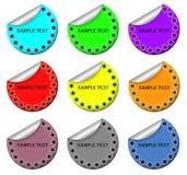 Stickers met de grens van de Sneeuwvlok Royalty-vrije Stock Afbeelding