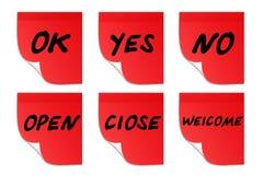 Stickers met ondertitels Stock Foto's