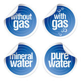 Stickers for mineral water. Royalty Free Stock Photos