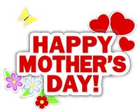 Stickers Mothers Day. Stock Images