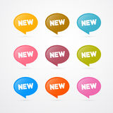 Stickers with New Title Royalty Free Stock Image