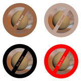 Stickers for nut free products Royalty Free Stock Image