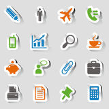 Stickers - Office and Business icons Royalty Free Stock Photo