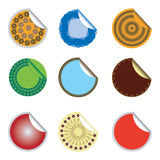Stickers with ornaments. Stickers with different ornaments and colors royalty free illustration