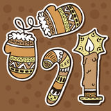 Stickers ornate set. Stock Image