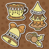 Stickers ornate set. Stock Photos