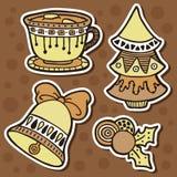 Stickers ornate set. Stock Photos