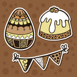 Stickers ornate set. Stock Photography