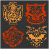 Stickers and patches for bikers Royalty Free Stock Image