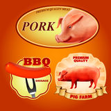 Stickers pig Royalty Free Stock Photo