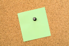 Stickers pinned to a cork board Royalty Free Stock Photo