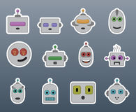 Stickers robots Royalty Free Stock Photography