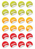 Stickers sale Stock Photography