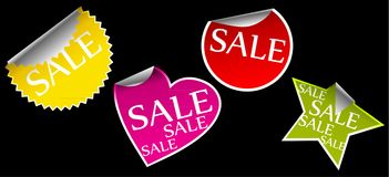 Stickers with sale Royalty Free Stock Photos