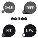 Stickers sale free new hit label Royalty Free Stock Photography