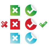 Stickers set Stock Image