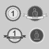 Stickers set. Set of best choice stickers, vector eps 10 illustration Stock Photography