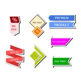 The stickers set Stock Photography