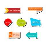 The stickers set Royalty Free Stock Images