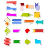 The stickers set Royalty Free Stock Photography