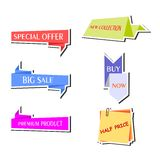 The stickers set Royalty Free Stock Photos