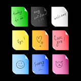Stickers set. With colourful elements Stock Images