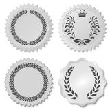 Stickers set with laurel wreaths Stock Images