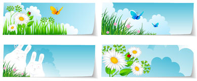 Stickers set nature Royalty Free Stock Photo