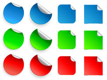 Stickers set, vector. Stock Photo