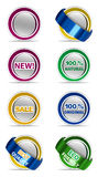 Stickers set Royalty Free Stock Images