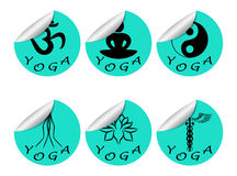 Stickers set YOGA Stock Image